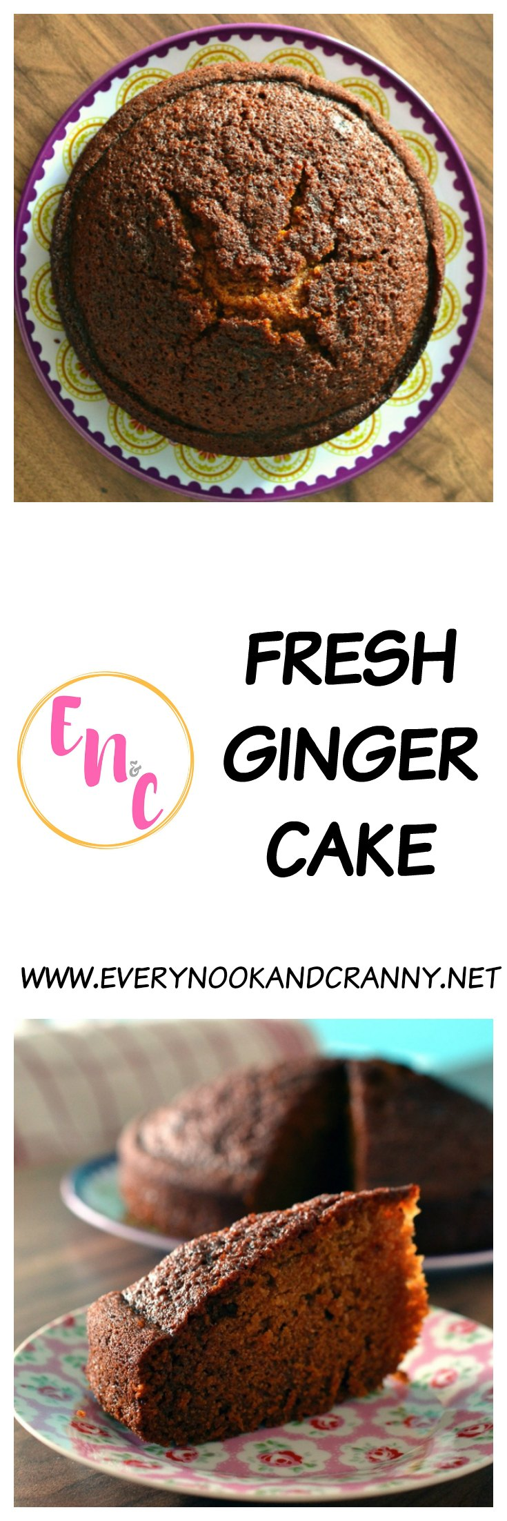 Fresh ginger cake with the added spiciness of freshly cracked black pepper too.