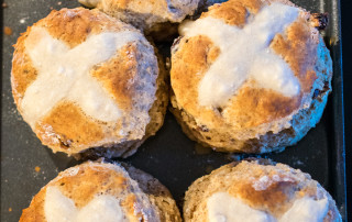 Hot Cross Scones are another way to get all those sweet spices from the Easter buns into your afternoon tea!