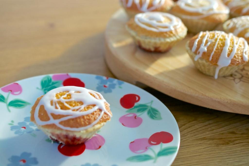vanilla pastry bing cherry bakewells