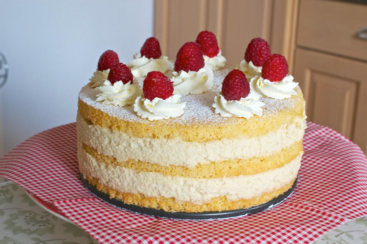 Peach Melba Mousse Cake