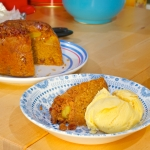 Caramel Apple & walnut Steamed Pudding