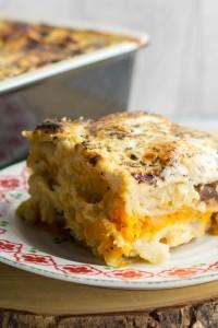 Squash, Celeriac & Caramelised Onion Lasagne - a vegetarian feast!