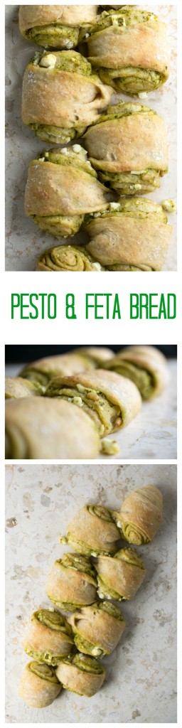 pesto and feta bread