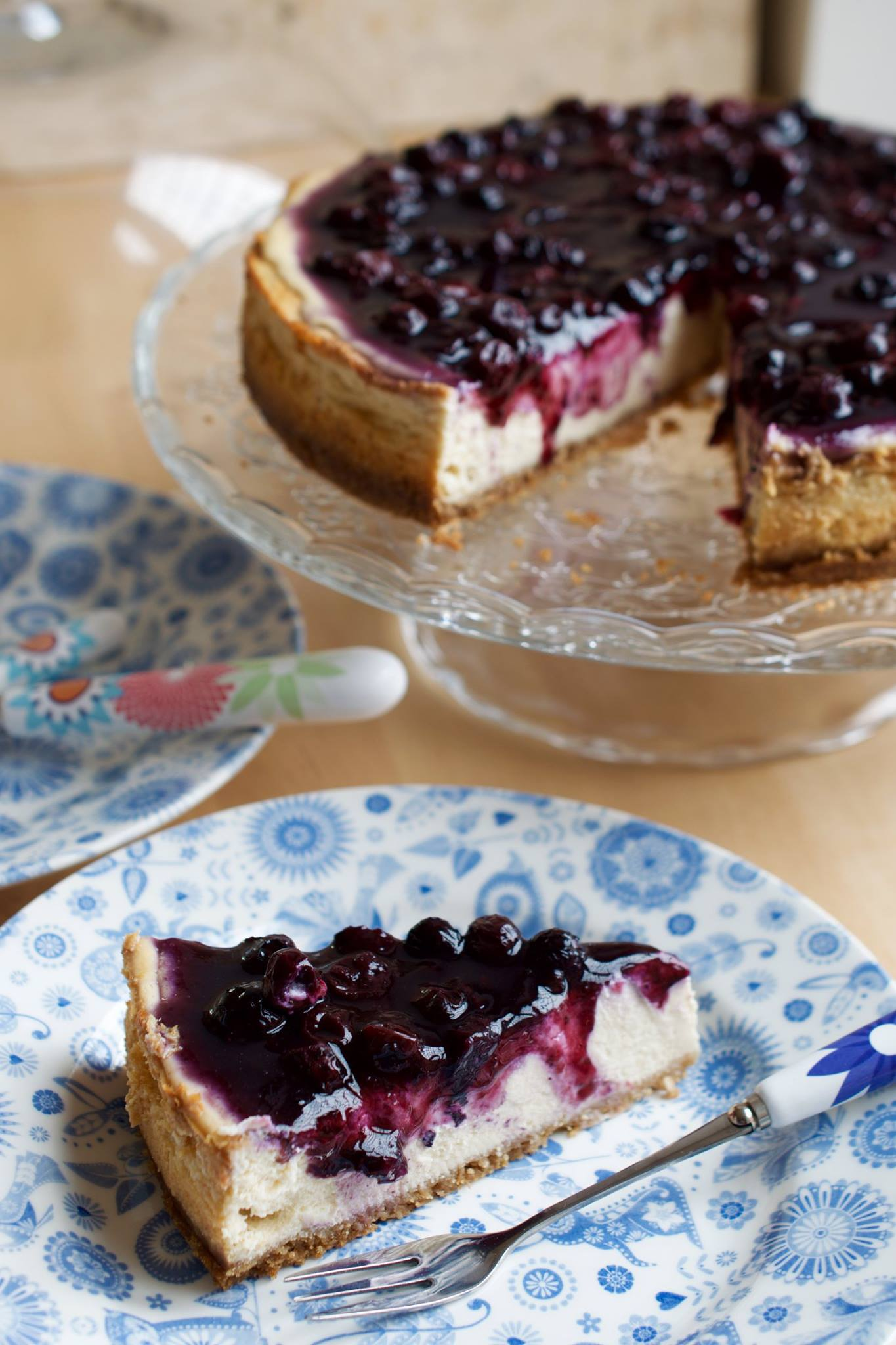 Blueberry Maple Cheesecake