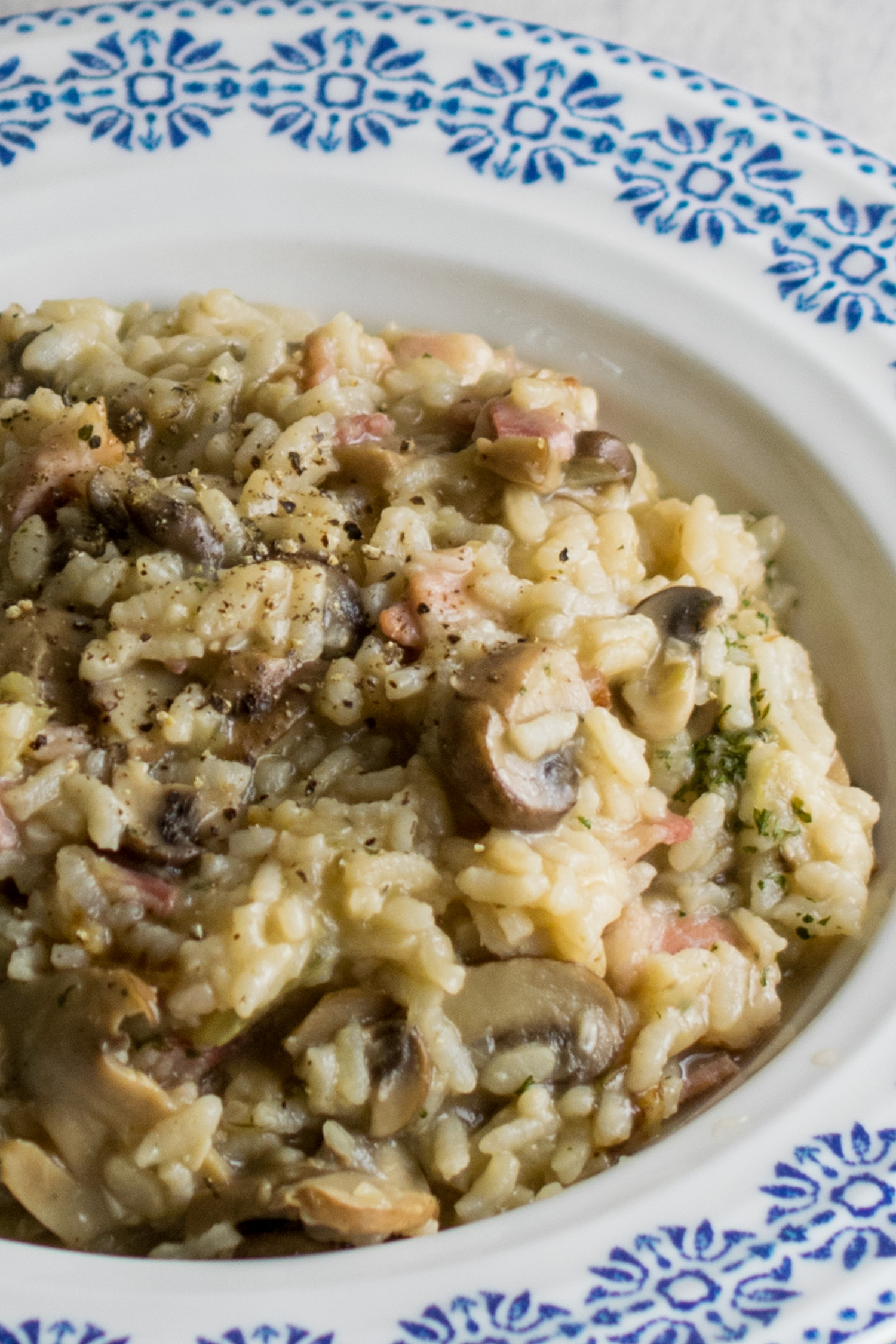 Mushroom and Bacon Risotto