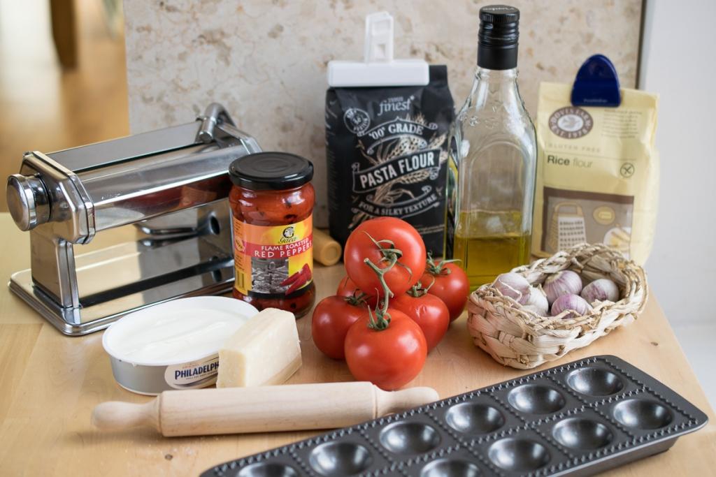 Roasted Red Pepper Ravioli