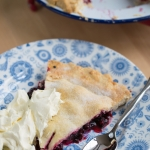 Old fashioned blackcurrant plate pie, to make the most of the seasonal fruit!