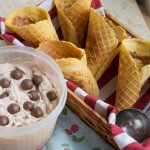 Malted Milk (Malteser) Ice Cream and homemade waffle cones
