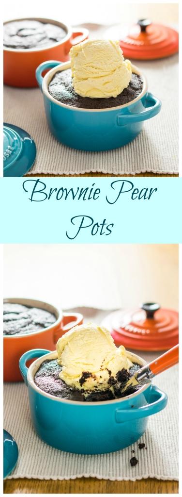Brownie Pear Pots