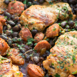Piri piri chicken with chorizo and balck beans - a delicious one pan dinner