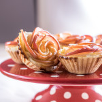 Cinnamon pastry filled with vanilla cheesecake and poached apple roses - easy to make, stunning to look at!