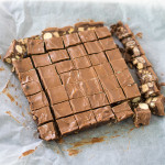 Leftover chocolate? OK, you can buy it in - this no bake chocolate slice is delicious regardless!