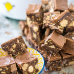 Turn all your leftover Easter or Christmas chocolate into this wonderful no bake chocolate slice