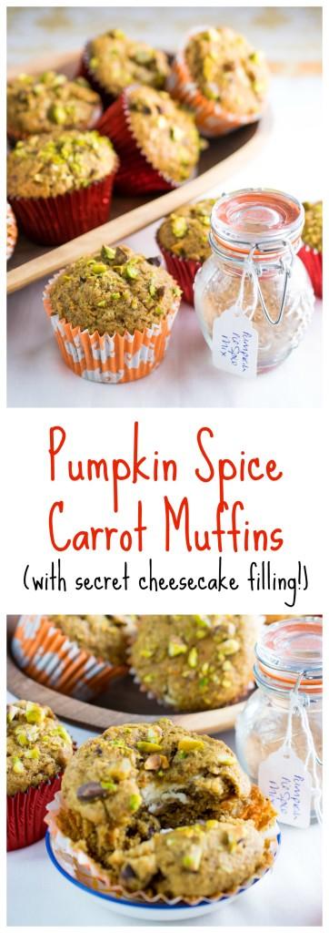 pumpkin spice carrot muffins