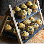 Perfect BLueberry Muffins with a domed topped and a soft and moist, tender crumb