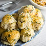 Chilli cheese stuffed super soft garlic dough balls
