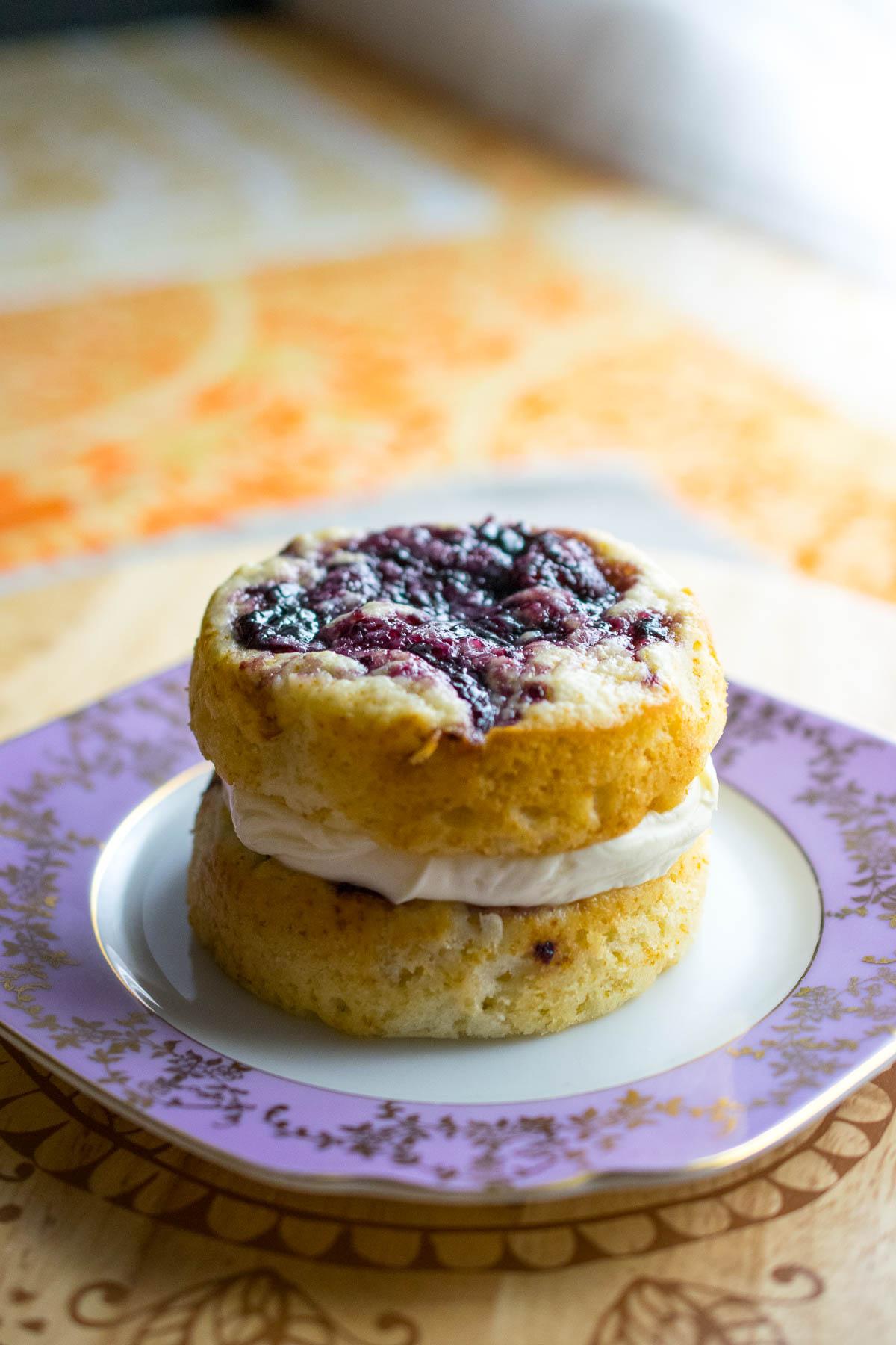 Vanilla Jam Swirl Cake for One Every Nook Cranny