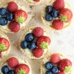 Lemon & white chocolate fruit tarts