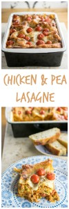 chicken and pea lasagne