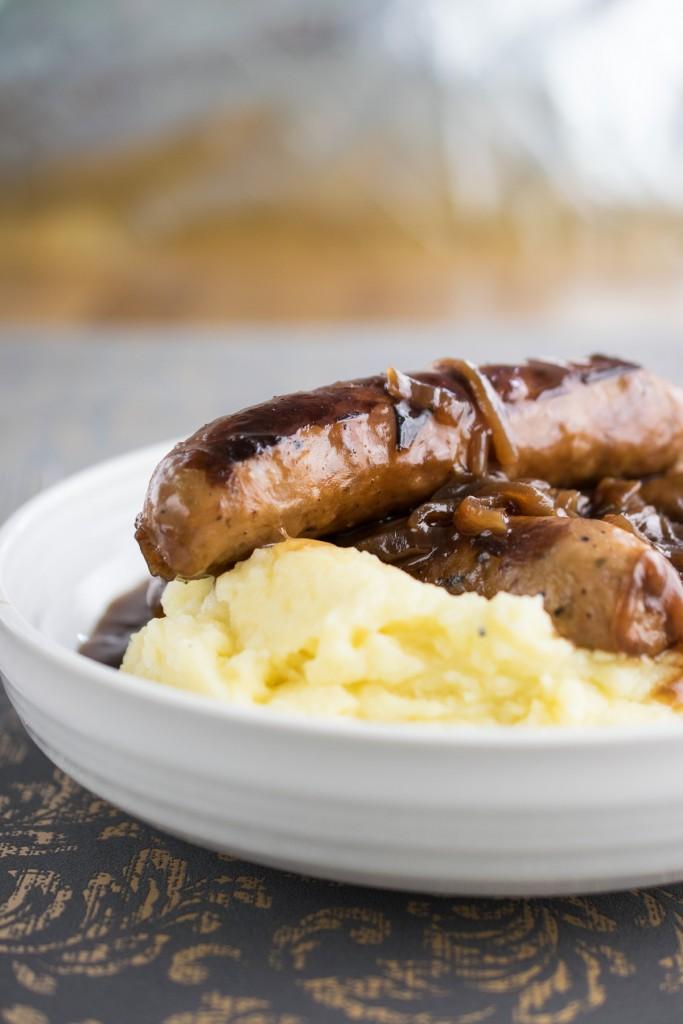 instant pot sausage & mash-5