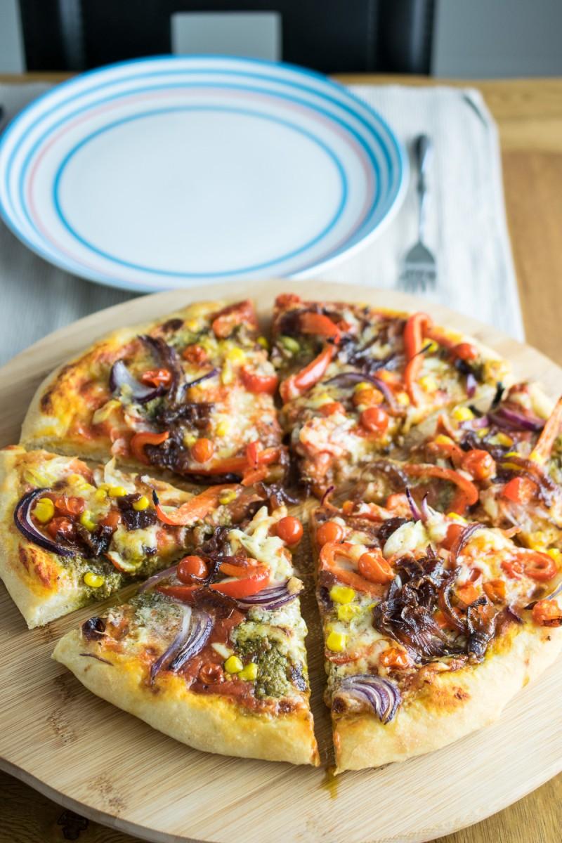 veggie deluxe pizza-2