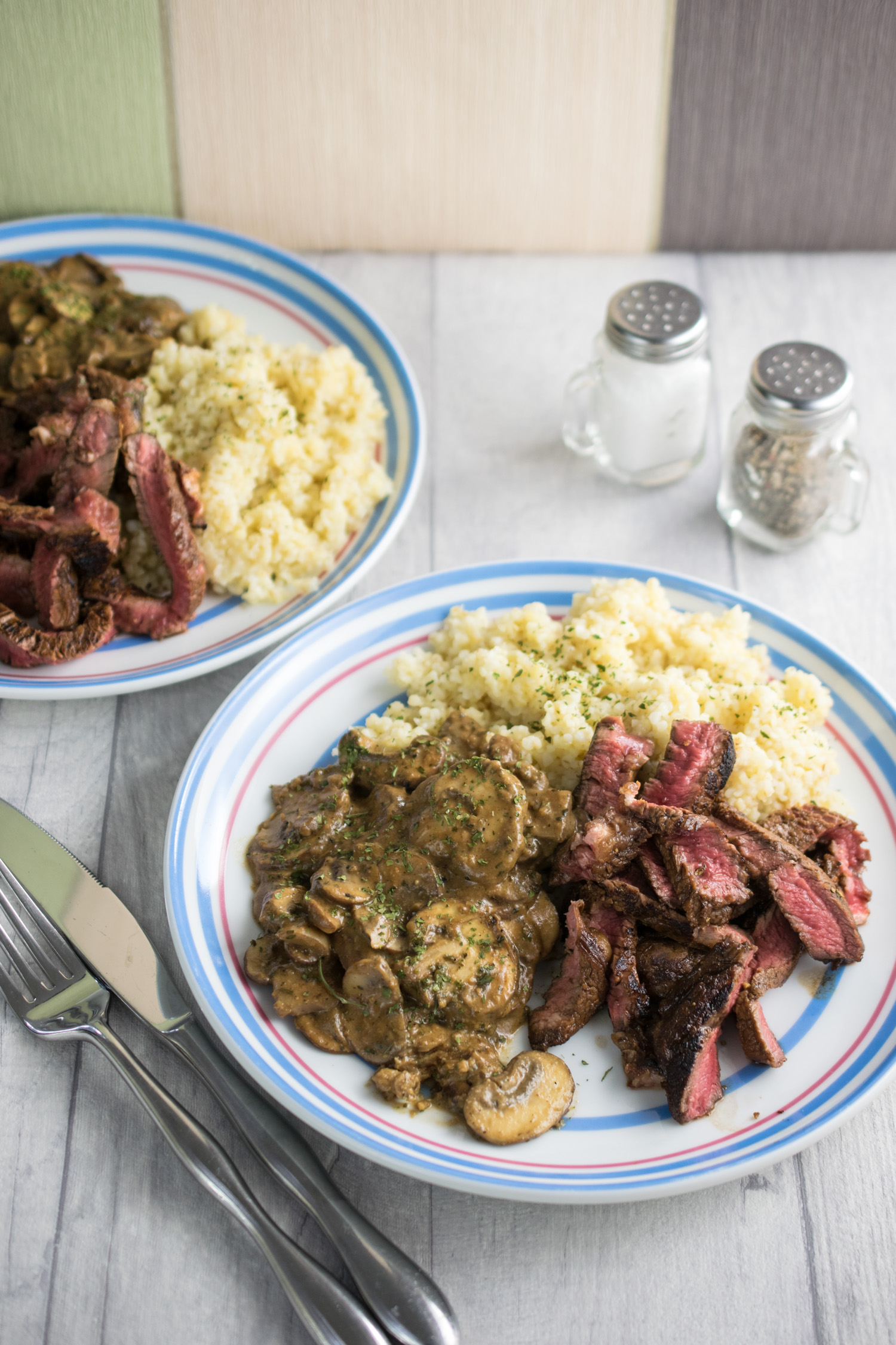 Steak Mushrooms & Bulgar Wheat