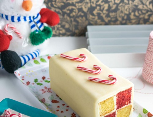 Peppermint Battenburg Cake