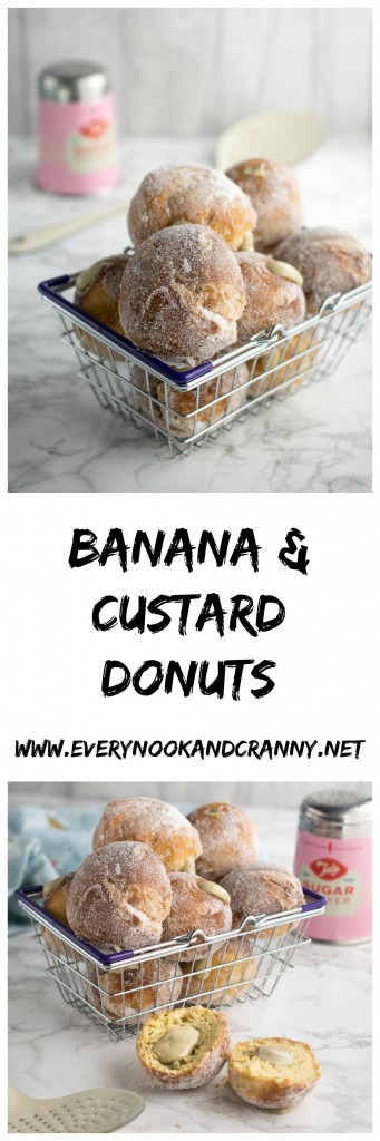 Banana & Custard Donuts