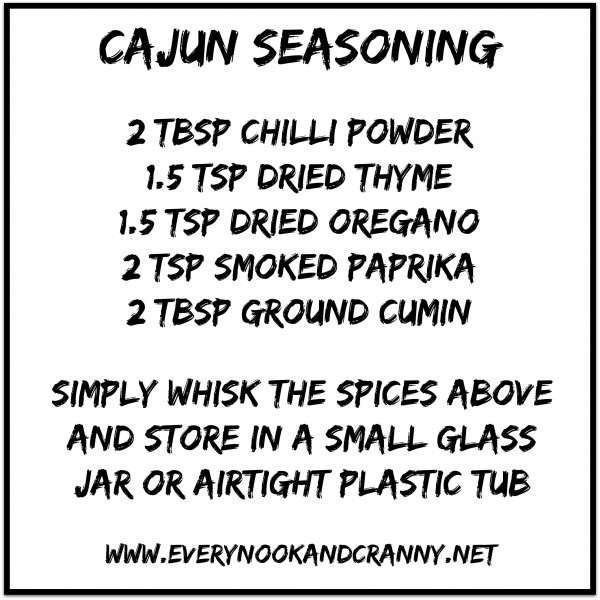A simple blend of herbs and spices to give Cajun flavour to your meals