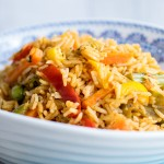 Instant Pot Cajun Vegetable Rice - cooked in a jiffy to satisfy hungry tums!