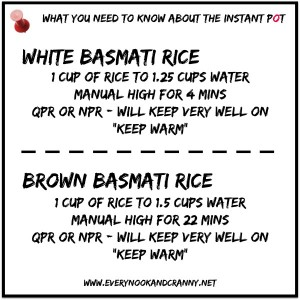 How to cook white and brown basmati rice to perfection in the Instant Pot