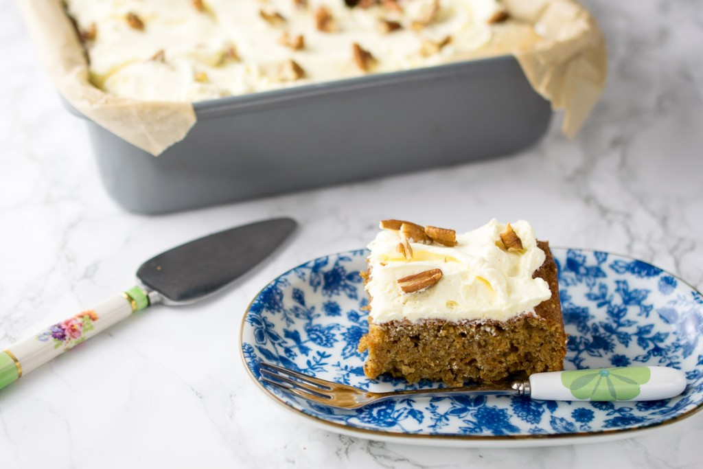 Deliciously moist and flavourful carrot cake so good, you won't miss the dairy or the gluten at all!