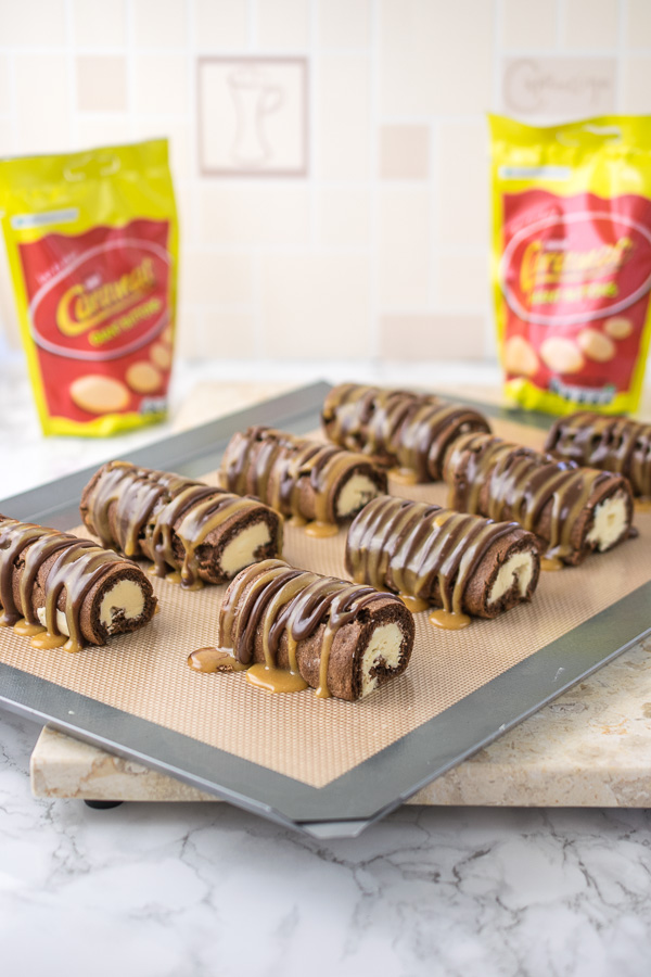 Homemade Caramac Mini Rolls