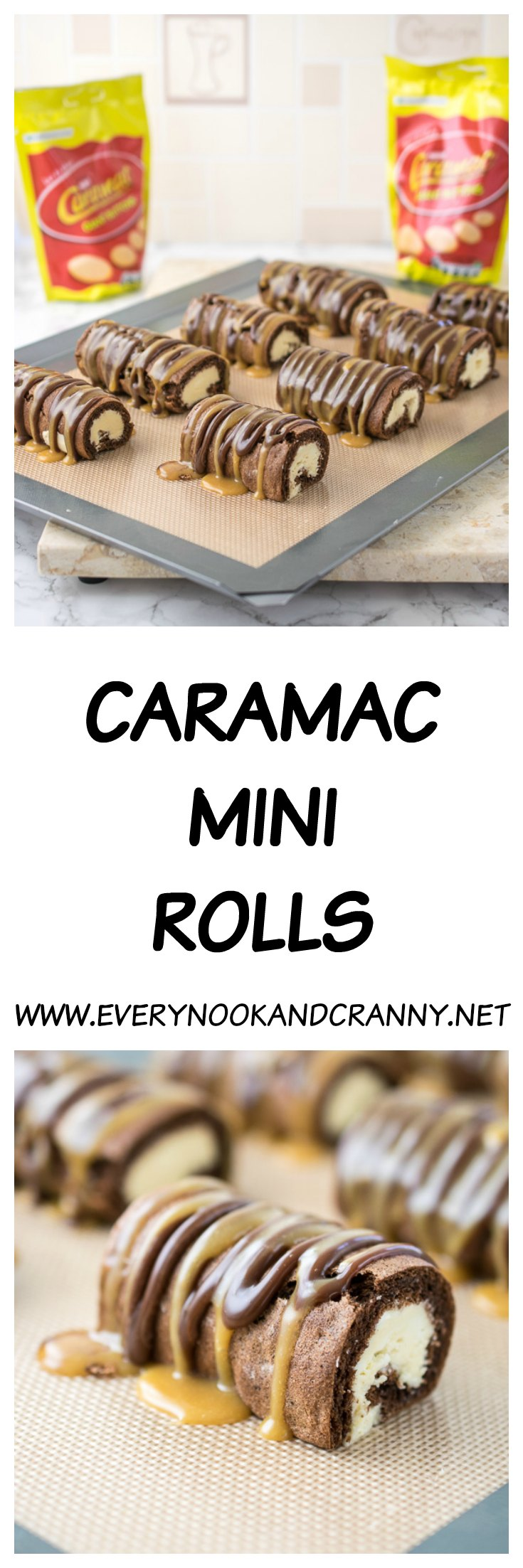 Naturally gluten free, homemade Caramac Mini Rolls!