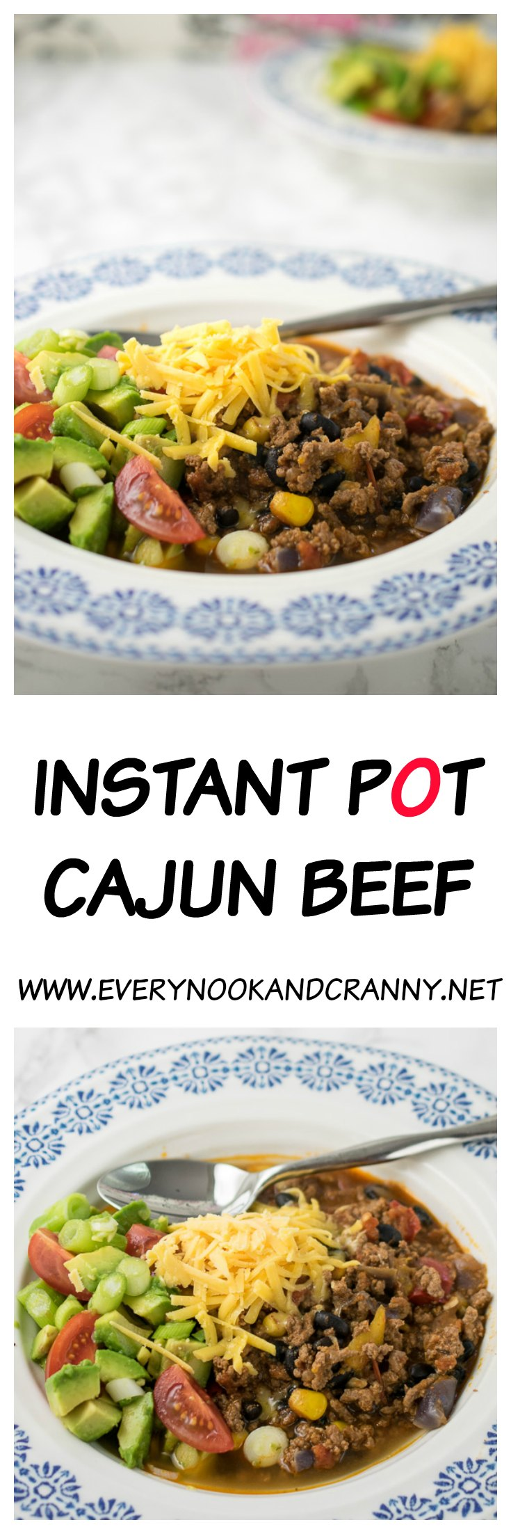 Instant Pot Cajun spiced minced beef