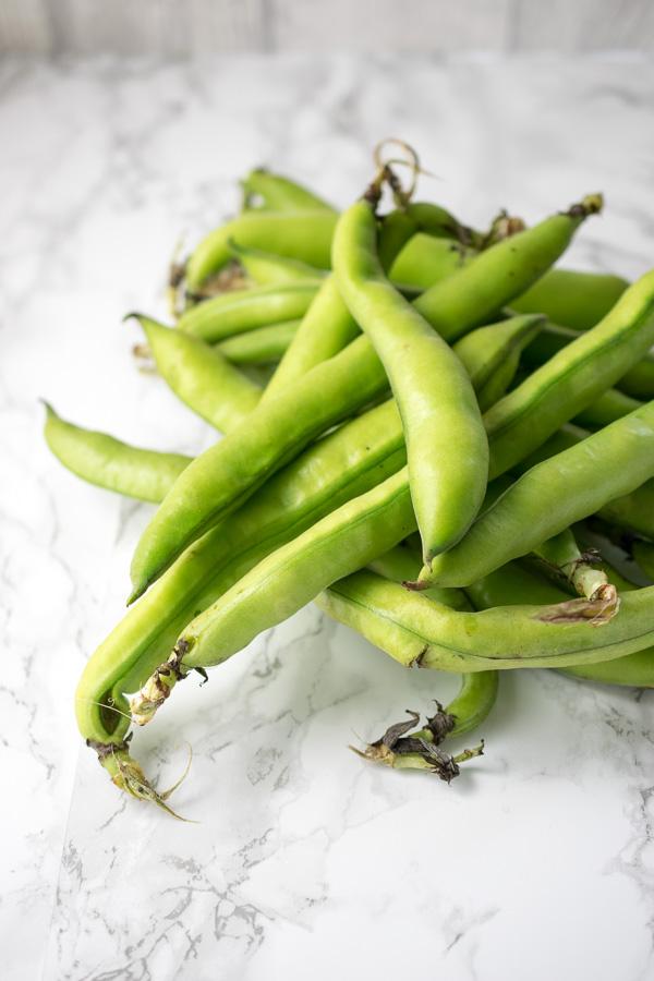 Fava beans (aka broad beans)