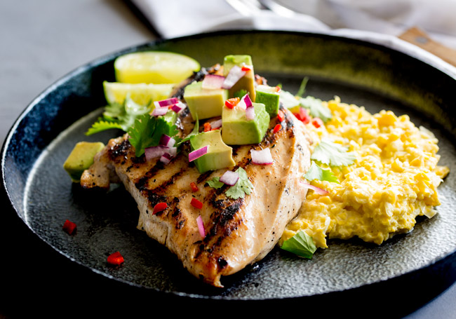 Grilled Jalapeño Lime Chicken with Corn Smash from Claire of Sprinkles and Sprouts