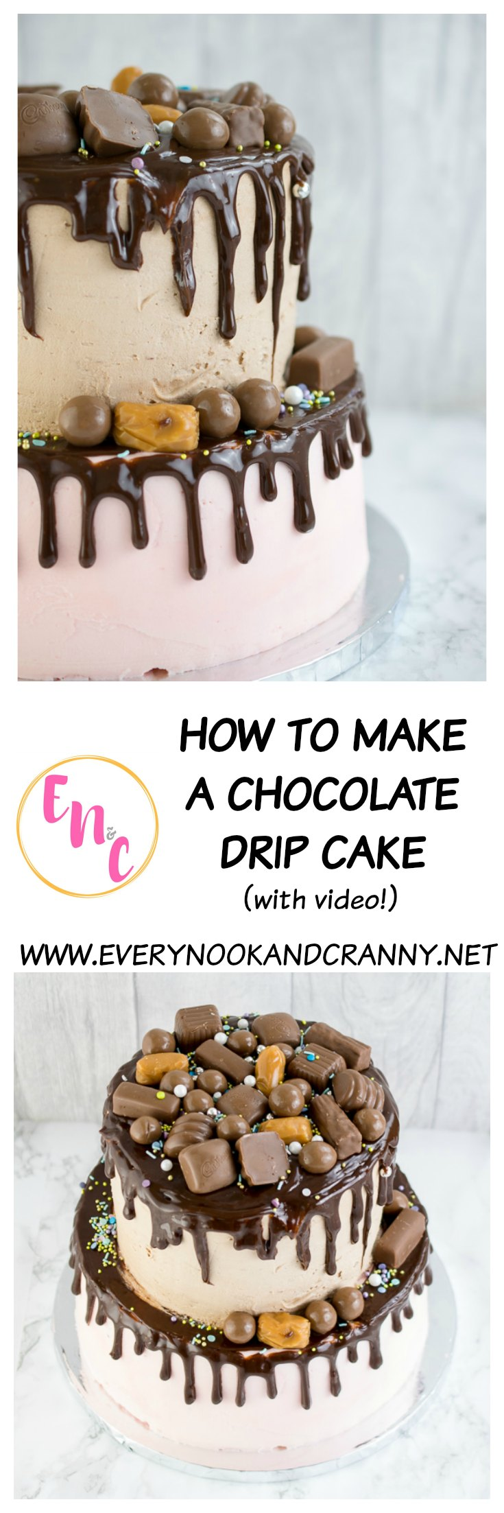 How to make a chocolate overload drip cake with video to help you!