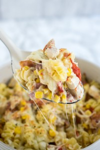 All in one pot Instant Pot Cheesy Chicken and Bacon Pasta. A midweek saviour!