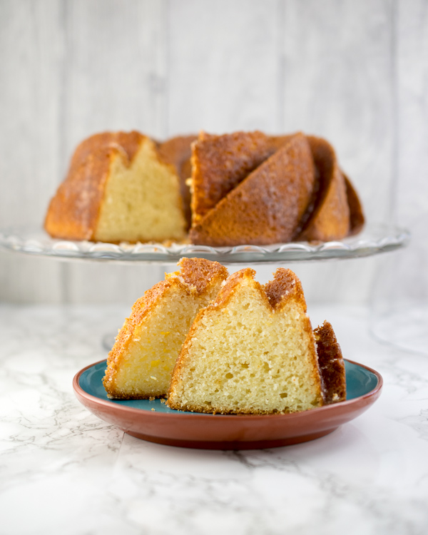 Lemon cream cheese bundt cake with a lemon drizzle to finish