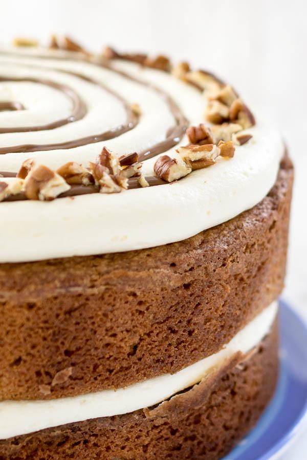 Gluten free cinnamon bun cake