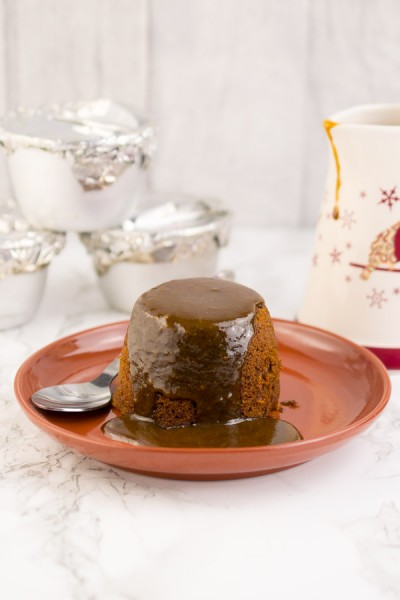 Individual Sticky Toffee Puddings made in the Instant Pot