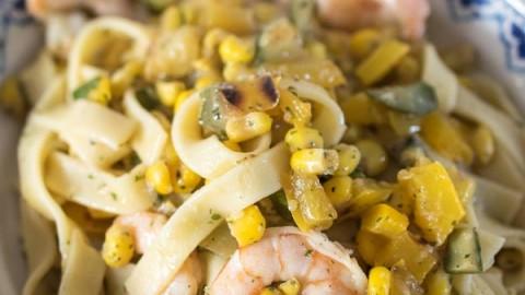 Garlic & Chilli Prawn Tagliatelli (Low Syn)