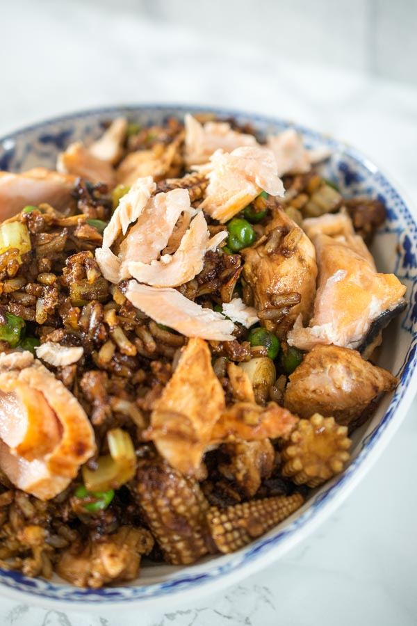 Salmon Fried Rice (low syn)
