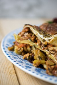 Pork ragu lasagne with syn free white sauce